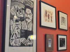 For the cafe's anniversary, Delgado adorned the walls with artwork he's collected over the past 20 years. Usually, local artists exhibit their work on the shop's walls for five weeks at a time.