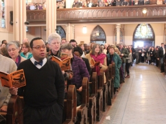 Crowds came from around the city to fill the pews in the church on South Shore Drive.
