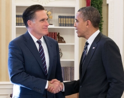 President Barack Obama and Gov. Mitt Romney ran in 2012. Noncompetitive states helped give Obama a competitive edge in the election, according to Steven Brams. (Photo Credit: Creative Commons)
