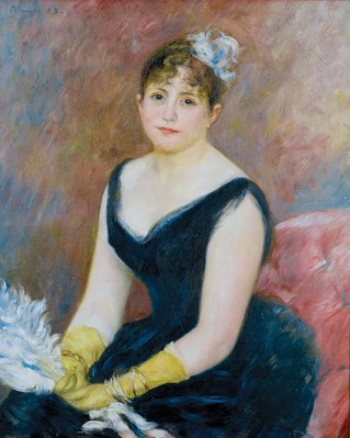 Pierre-Auguste Renoir. Madame Léon Clapisson, 1883. Mr. and Mrs. Martin A. Ryerson Collection. Courtesy of The Art Institute of Chicago.