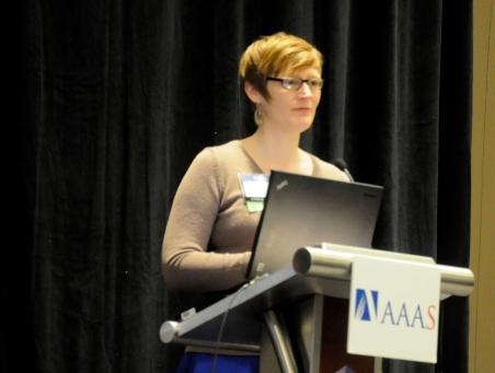 "Panelists advise attendees on how to use social media to get ahead in science during the ""Engaging with Social Media"" session of the American Association for Advancement of Science Annual Meeting at the Hyatt Regency Chicago Thursday."