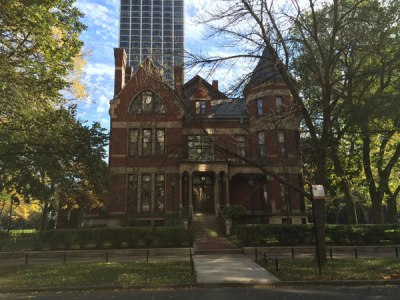 The current residence of Chicago's archbishop located at 1555 N. State Parkway.
