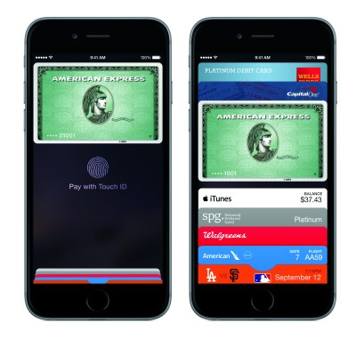 Currently, Discover is not participating in the Apple Pay program. Photo courtesy of Apple, Inc.