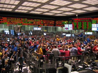 The trading floor at the Chicago Board of Trade. CME Group owns the CBOT. Photo by Hamsa Ramesha.
