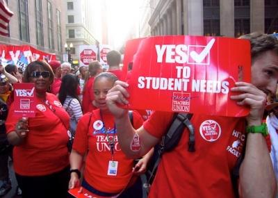 Chicago Teachers Union members rally Wednesday, May, 24, 2012.