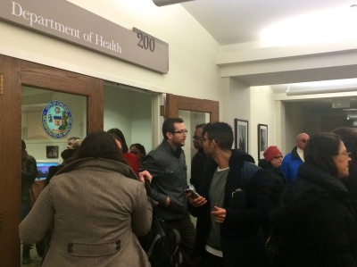 North River Consumer Council members leave the Chicago Department of Public Health office
