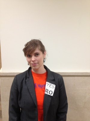 Activist Alexandra Keels attended the City Council meeting to support the passing of the Single-Room Occupancy Preservation Ordinance.