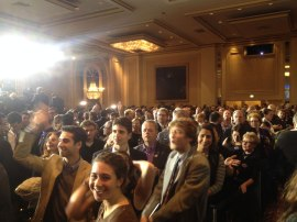 By 8 p.m., the ballroom was packed.