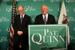 With 95 percent of precincts reported, Gov. Pat Quinn trails by four percentage points.