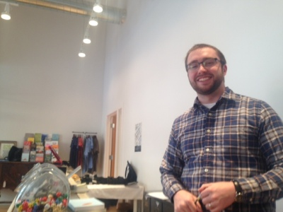 Tyler Stoltenberg is the new  retail manager at the Secret Agent Supply Co.