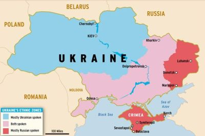 This map explains the ethnic boundaries within Ukraine. courtesy of the mirror.co.uk