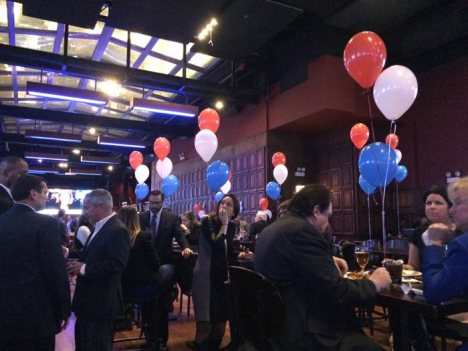 Supporters gather for Illinois Secretary of State Jesse White's election night party Tuesday.