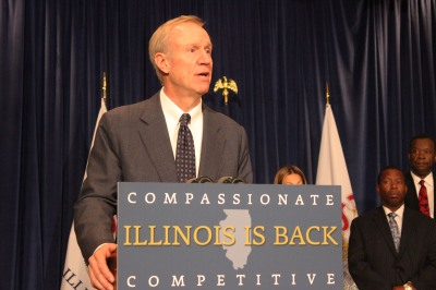 Republican Gov.-elect Bruce Rauner unveils his transition team and discusses his plan to work with Democratic leadership in the General Assembly.